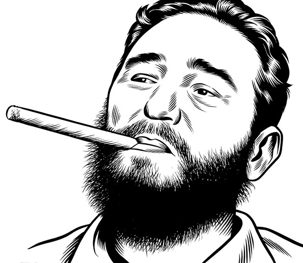bau_INT_Burns_Fidel_Castro_